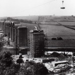 Conisbrough viaduct during construction