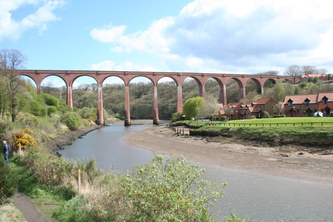 Larpool Viaduct from below